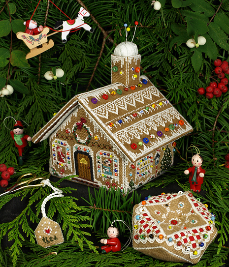Gingerbread Stitching House (grille)