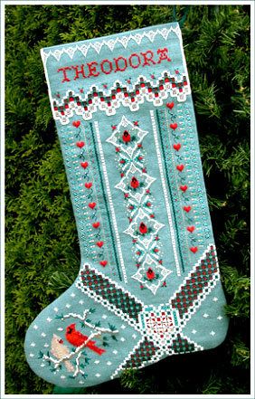 Christmas Card Stocking (grille)