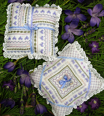 French Lavender Pillow (grille)