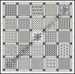 Grille CH28, Squares Within Squares