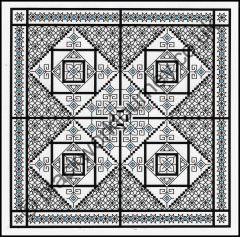 Grille CH51, Blackwork Square Dance