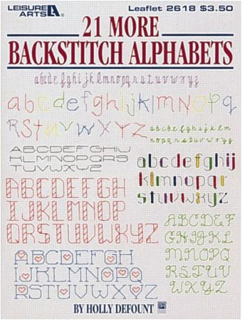 21 more Backstitch Alphabets