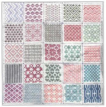 Harmony Geometric Satin Stitches