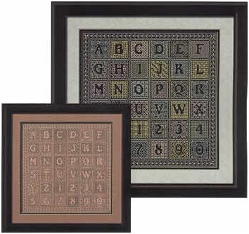 Saying it with Blackwork - Alphabet Sampler