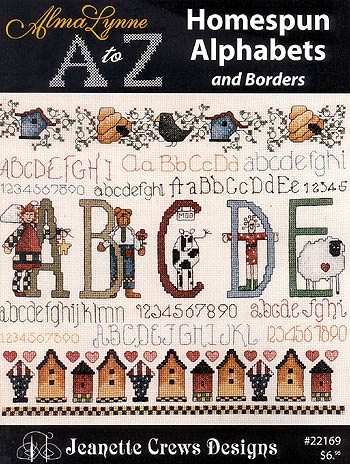 Alma Lyne A to Z Homespun Alphabets and Borders