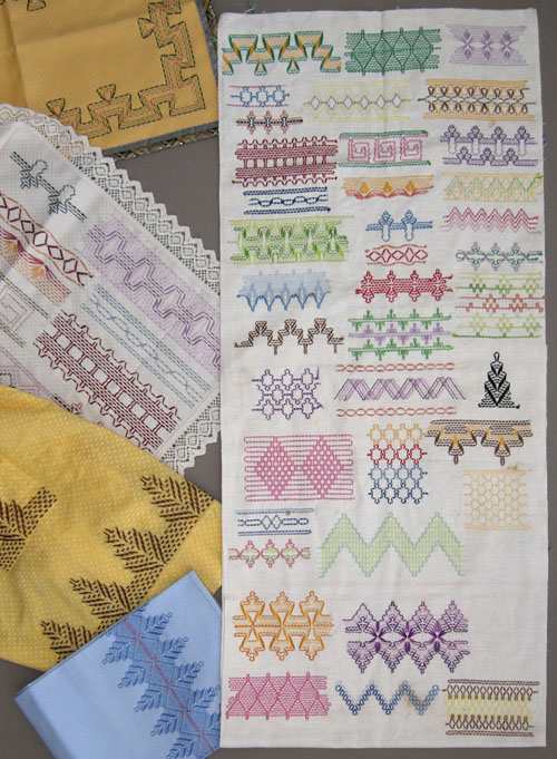 Antique Swedish Weave Sampler. Circa 1900 to 1920
