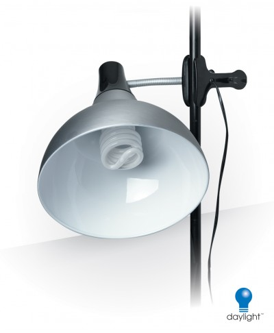 Artist Clip-on Studio Lamp , Satin Silver