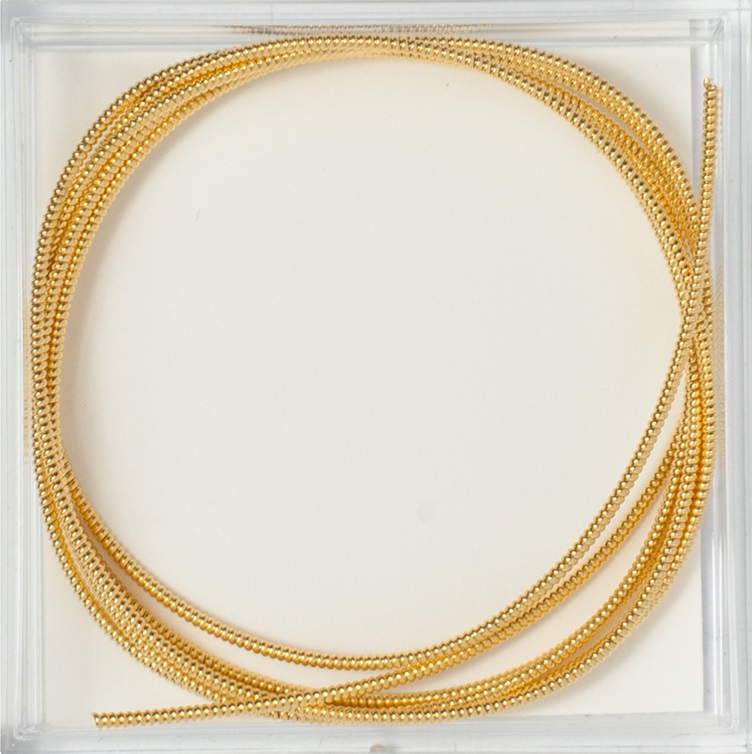 Gilt Pearl Purl #1, 1 verge