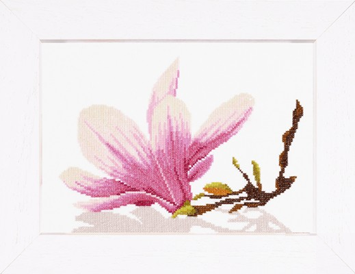 Lanarte # 8304, Magnolia Twig with Flower