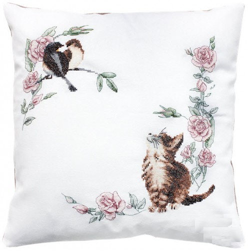 Luca-s #B 108 Coussin Curious Kittens