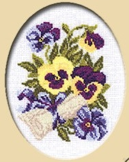 Pansies with a Letter