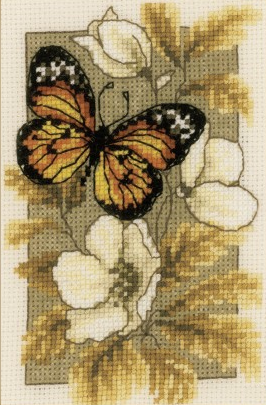 Butterfly on Flowers I