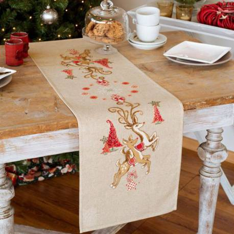 Chemin de table, Jumping Reindeers
