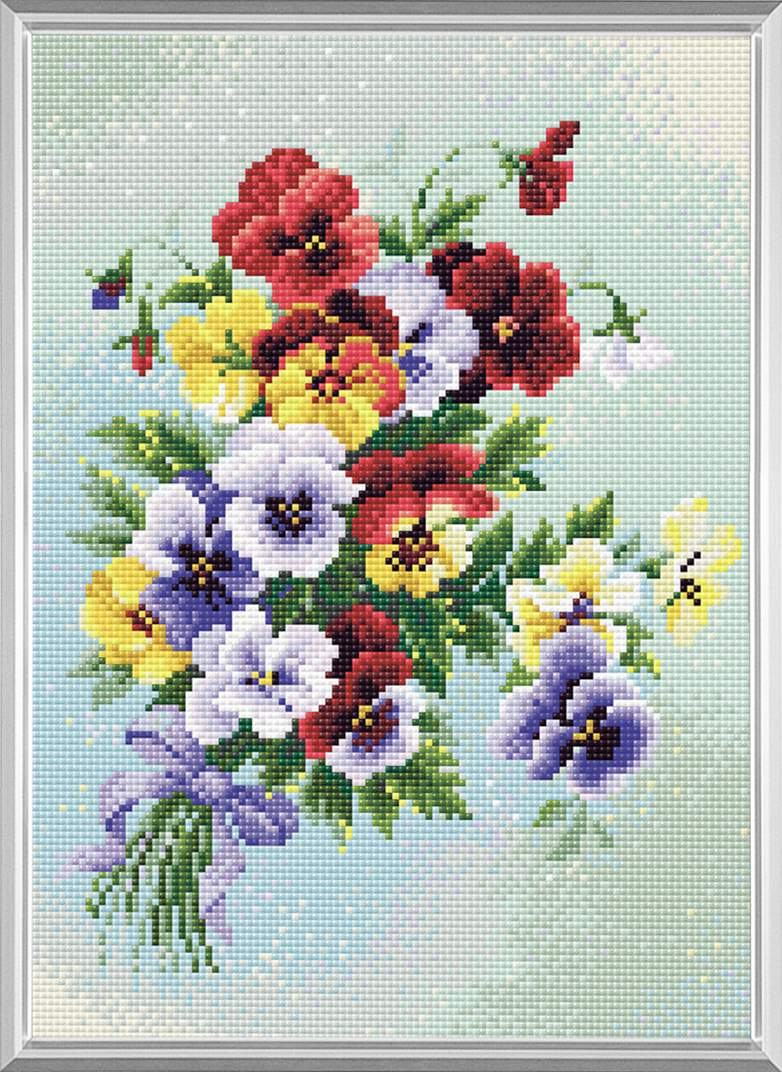 # AM.016 Pansy Medley, kit Diamant Mosaique