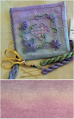 Hearts and Flowers Casalguidi Needlebook *Grape Mist