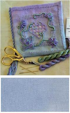 Hearts and Flowers Casalguidi Needlebook *Plumbago