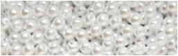 50 fausses perles blanches 2,5 mm