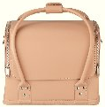 Leather Look Bag, Glamour Cream