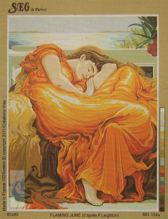 Flaming June, d'après F. Lieghton